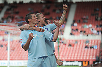 Football - Championship -  Middlesbrough vs. Coventry City<br /> Lucas Jutkiewicz (Coventry City) celebrates after getting the equaliser at The Riverside.