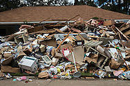 Contents removed from a flooded home in Denham Springs, Louisana after the thousand  year flood hit Southern Louisiana.
