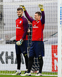 England goalkeepers Frazer Forster and Tom Heaton - Mandatory byline: Matt McNulty/JMP - 22/03/2016 - FOOTBALL - St George's Park - Burton Upon Trent, England - Germany v England - International Friendly - England Training and Press Conference