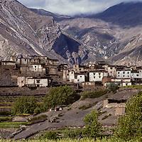 Kagbeni village north of Annapurna, Nepal.