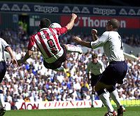 Copyright Sportsbeat Images. 0208 8768611<br />Picture: Henry Browne<br />Date: 3/08/2003<br />Tottenham Hotspur v PSV Eindhoven pre season friendly<br />Mateja Kezman of PSV tries a dramatic shot on goal