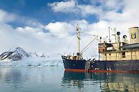 """Expedition ship """"Stockholm""""<br /> Smeerenburg fjord<br /> Svalbard<br /> Norway"""
