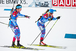 Uliana Kaisheva (RUS) and Evgeniy Garanichev (RUS) during Single Mixed Relay at day 1 of IBU Biathlon World Cup 2018/19 Pokljuka, on December 2, 2018 in Rudno polje, Pokljuka, Pokljuka, Slovenia. Photo by Ziga Zupan / Sportida