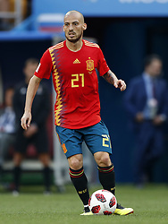 David Silva of Spain during the 2018 FIFA World Cup Russia round of 16 match between Spain and Russia at the Luzhniki Stadium on July 01, 2018 in Moscow, Russia