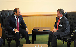 September 20, 2016 - New York, New York, United States of America - Egyptian President Abdel-Fattah El-Sisi meets with Jordanian King Abdullah II bin Al-Hussein at the United Nations Headquarters in New York, U.S., where they are attending the UN General Assembly on Sep. 20, 2016  (Credit Image: © Egyptian President Office/APA Images via ZUMA Wire)