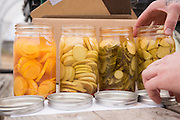 Pickled squash prepared by chef Timothy Wastell