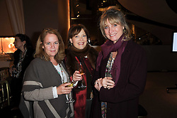 Left to right, ALISON SOLA, LAVINIA HADSLEY-CHAPLIN and ARRELLE VON HURTER at a lecture in aid of The Lavender Trust hosted by Asprey, Bond Street, London on 27th January 2010.