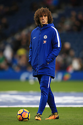 18 November 2017 -  Premier League - West Bromwich Albion v Chelsea - David Luiz of Chelsea walks around during the warm up chewing gum, hands in pockets - Photo: Marc Atkins/Offside