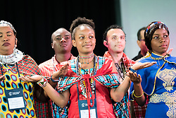 """10 March 2018, Arusha, Tanzania: Plenary session on Mission from the Margins. From 8-13 March 2018, the World Council of Churches organizes the Conference on World Mission and Evangelism in Arusha, Tanzania. The conference is themed """"Moving in the Spirit: Called to Transforming Discipleship"""", and is part of a long tradition of similar conferences, organized every decade."""