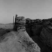 Aug 10, 2009 - Kandahar Province, Afghanistan - A trench system at a NATO and Afghan forward operating base on the front lines in the insurgent stronghold of Panjway District outside Kandahar City, Afghanistan.<br /> (Credit Image: © Louie Palu/ZUMA Press)