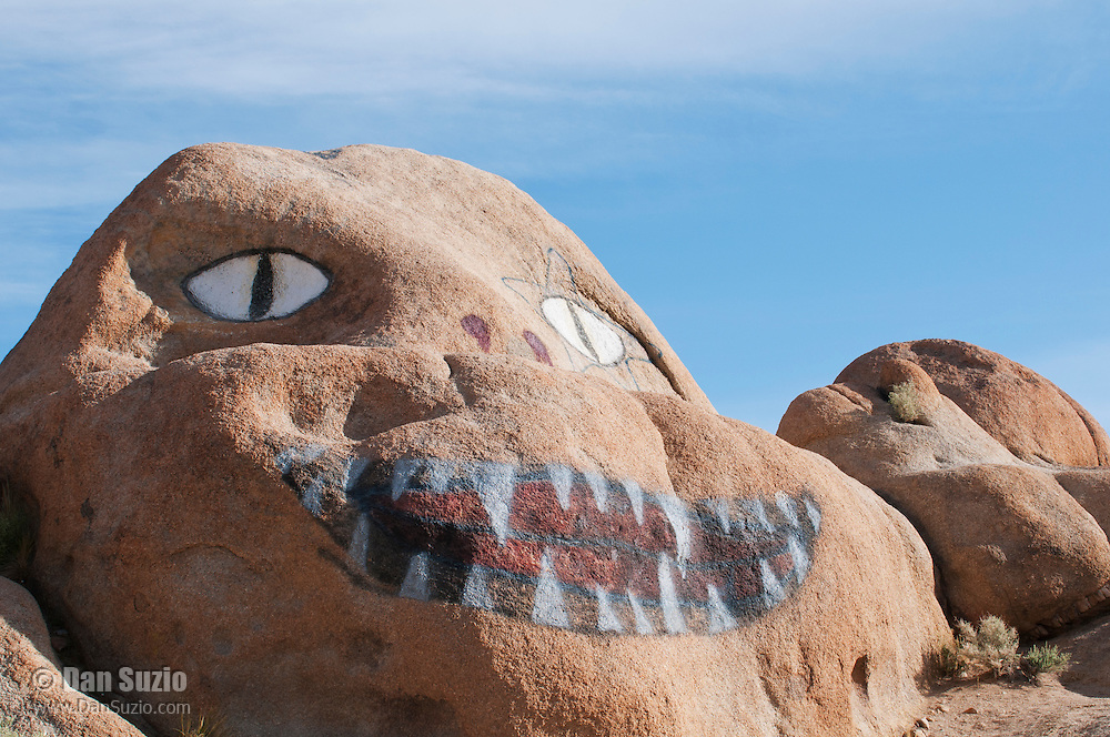 Painted boulders in the Alabama Hills, near Lone Pine, California