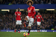 Marouane Fellaini of Manchester United passes the ball .<br /> Premier league match, Chelsea v Manchester United at Stamford Bridge in London on Sunday 5th November 2017.<br /> pic by Kieran Clarke, Andrew Orchard sports photography.