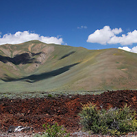 USA, Idaho, Carey. Scenery along the Peaks to Craters Scenic Byway.