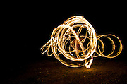 glowing spark spirals