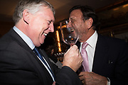 ROCCO FORTE, Pedro Girao of Christies and Duncan Macintyre of Lombard Odier host the last dinner at the Old Annabels. 44 Berkeley Sq. London. 15 November 2018