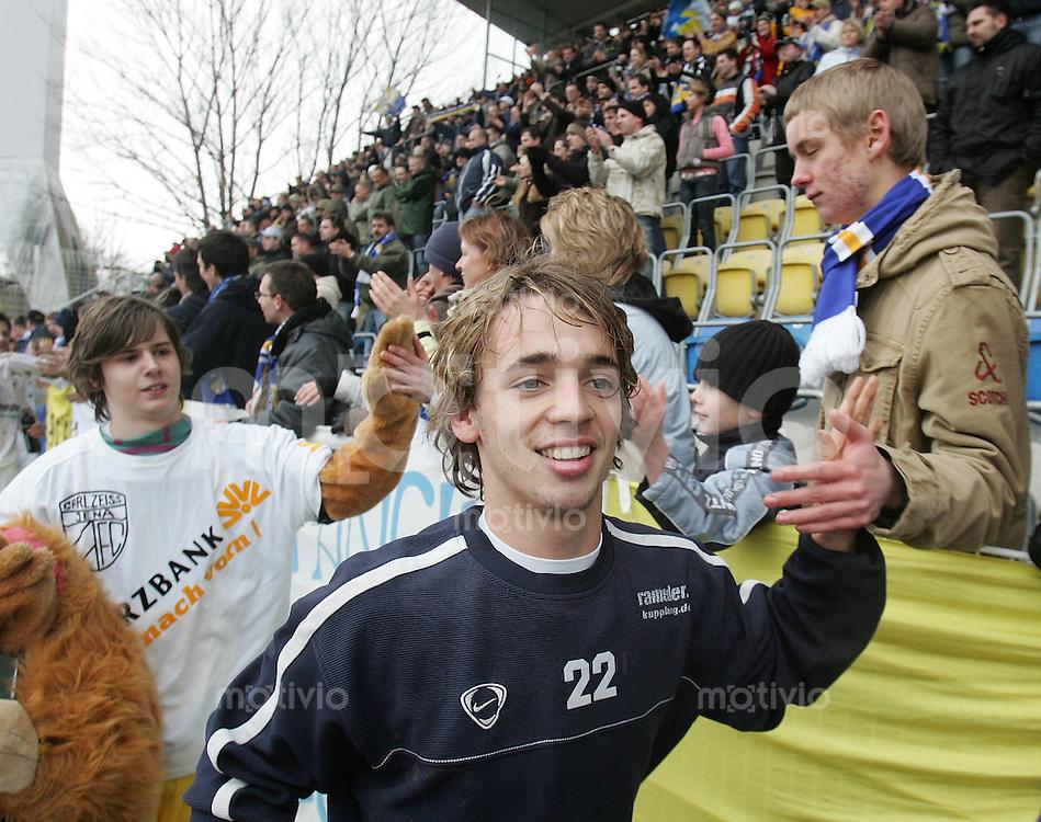 Jena , 110207 , Saison 2006/2007 ; Fussball 2.Bundesliga FC Carl Zeiss Jena - Rot Weiss Essen  Felix HOLZNER (Jena)