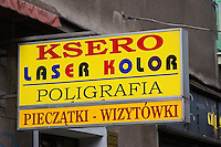 Printing and photography shop seen in Krakow Poand