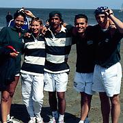 Sterrenslag 1996 Texel, Marisca Hulscher, Annemiek verdoorn, Pim Vosmear, Mike Starrink en Jeroen Smits