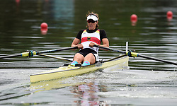 Germany's Marie-Louise Draeger in the Lightweight Women's Single Sculls during day one of the 2018 European Championships at the Strathclyde Country Park, North Lanarkshire