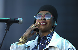 May 28, 2017 - Falcon Heights, MN, USA - Lauryn Hill early in her evening set at Soundset on Sunday, May 28, 2017 at the State Fairgrounds in Falcon Heights, Minn. (Jeff Wheeler/Minneapolis Star Tribune/TNS) ORG XMIT: 1202978 (Credit Image: © Jeff Wheeler/Minneapolis Star Tribune via ZUMA Wire)