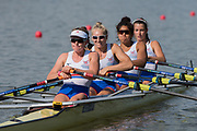 Plovdiv BULGARIA. 2017 FISA. Rowing World U23 Championships. GBR BW4X, Bow. THORNTON, Anna, EDWARDS, Kyra, BUDGETT, Saska and GLOVER, Lucy.<br /> Wednesday. PM,  Heats 17:10:02  Wednesday  19.07.17   <br /> <br /> [Mandatory Credit. Peter SPURRIER/Intersport Images].
