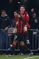 Football - 2019 / 2020 Premier League - AFC Bournemouth vs. Brighton & Hove Albion<br /> <br /> Bournemouth's Callum Wilson celebrates scoring the cherries third goal, his second with Bournemouth's Harry Wilson at the Vitality Stadium (Dean Court) Bournemouth <br /> <br /> COLORSPORT/SHAUN BOGGUST