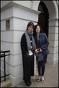 HELENA RIZZO;  LANSHU CHEN;  , Veuve Clicquot World's Best Female chef champagne tea party. Halkin Hotel. Halkin St. London SW1. 28 April 2014.