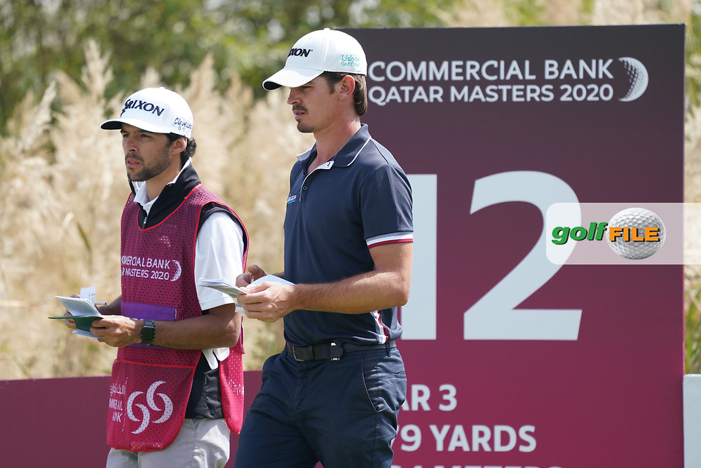 Pedro Figueiredo (POR) during the third round of the Commercial Bank Qatar Masters 2020, Education City Golf Club , Doha, Qatar. 07/03/2020<br /> Picture: Golffile | Phil Inglis<br /> <br /> <br /> All photo usage must carry mandatory copyright credit (© Golffile | Phil Inglis)