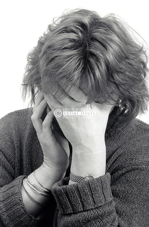 Depressed woman UK 1990s