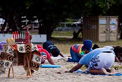 Sunrise session of Hatha Yoga on Brewers Bay Beach to celebrate the sixth principle of Kwanzaa, Kuumba (creativity).