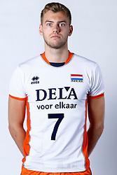 20150506 NED: Selectie Nederlands volleybal team mannen, Arnhem<br />Op Papendal werd het Nederlands team volleybal seizoen 2015-2016 gepresenteerd / Gijs Jorna<br />©2015-FotoHoogendoorn.nl / Pim Waslander