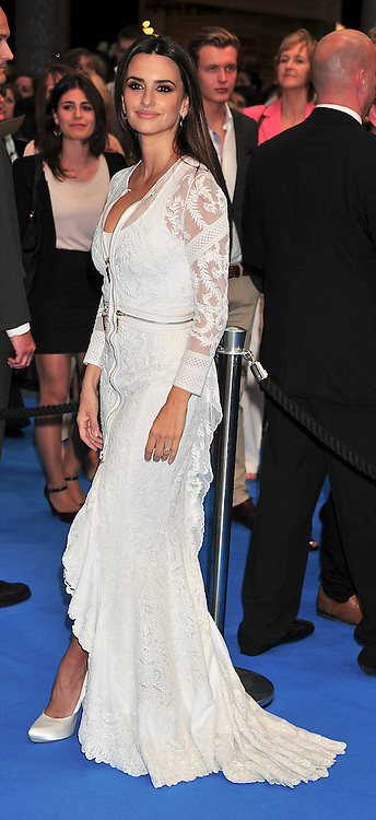 """© licensed to London News Pictures. London, UK  12/05/11 Penelope Cruz attends the UK premiere of Pirates of the Carribean 4 """"on Stranger Tides"""" at Londons Westfield . Please see special instructions for usage rates. Photo credit should read AlanRoxborough/LNP"""