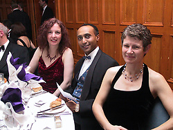 GP Booster Ball <br />Left to Right; <br />seated for dinner are Doctors,M. McKenna, B. TesfaYohonne and C. Jeffcoate<br /><br />Venue: Royal Victoria Hotel, (holiday inn), Sheffield<br />Date: Saturday 10 November