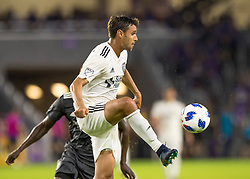 April 21, 2018 - Orlando, FL, U.S. - ORLANDO, FL - APRIL 21: San Jose Earthquakes forward Chris Wondolowski (8) receive a pass during the MLS soccer match between the Orlando City FC and the San Jose Earthquakes at Orlando City SC on April 21, 2018 at Orlando City Stadium in Orlando, FL. (Photo by Andrew Bershaw/Icon Sportswire) (Credit Image: © Andrew Bershaw/Icon SMI via ZUMA Press)