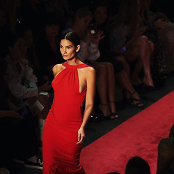"""Lily Aldridge releases a photo on Twitter with the following caption: """"""""Stepping into the weekend like the radiant @lilyaldridge at last season's @brandonmaxwell show #FBF #NYFW #CFDANYFW 📷: @jw.ellington"""""""". Photo Credit: Twitter *** No USA Distribution *** For Editorial Use Only *** Not to be Published in Books or Photo Books ***  Please note: Fees charged by the agency are for the agency's services only, and do not, nor are they intended to, convey to the user any ownership of Copyright or License in the material. The agency does not claim any ownership including but not limited to Copyright or License in the attached material. By publishing this material you expressly agree to indemnify and to hold the agency and its directors, shareholders and employees harmless from any loss, claims, damages, demands, expenses (including legal fees), or any causes of action or allegation against the agency arising out of or connected in any way with publication of the material."""