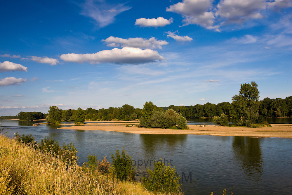 Picturesque River Loire at Candes St Martin, Loire Valley, France