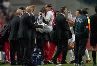 Fotball<br /> UEFA Champions League 2004/2005<br /> 19.10.2004<br /> Foto: ProShots/Digitalsport<br /> NORWAY ONLY<br /> <br /> Ajax v Maccabi Tel-Aviv<br /> <br /> wesley sonck scoort de 1-0 en rent naar de wissels toe