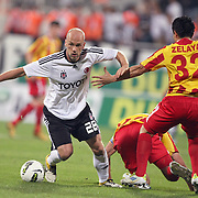 Besiktas's Fabian ERNST (R) during their UEFA Europa League Play-Offs first leg match soccer match Besiktas between Alania Vladikavkaz at Inonu stadium in Istanbul Turkey on Thursday August 18, 2011. Photo by TURKPIX