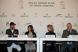The organizers of the Rolex Grand Slam of Showjumping<br /> In the picture : Jeroen Dubbeldam, Linda Southern-Heathcott, President of the Steering Committee of the Rolex Grand Slam of Show Jumping, Anky Van Grunsven, President Indoor Brabant, Marcel Hunze, Event Director Indoor Brabant<br /> Indoor Brabant - Den Bosch 2017<br /> © Dirk Caremans<br /> 12/03/2017