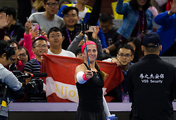 September 29, 2018 - Jelena Ostapenko of Latvia in action during her first-round match at the 2018 China Open WTA Premier Mandatory tennis tournament (Credit Image: © AFP7 via ZUMA Wire)