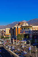 Beijing Middle Road, with the Potala Palace in background, Lhasa, Tibet (Xizang), China.