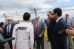 June 10, 2017 - Berlin, Berlin-Tempelhof, Germany - The photo shows Prince Albert II of Monaco and Lucas di Grassi on the Formula e race track on the former grounds of the Berlin airport in Berlin-Tempelhof. (Credit Image: © Simone Kuhlmey/Pacific Press via ZUMA Wire)