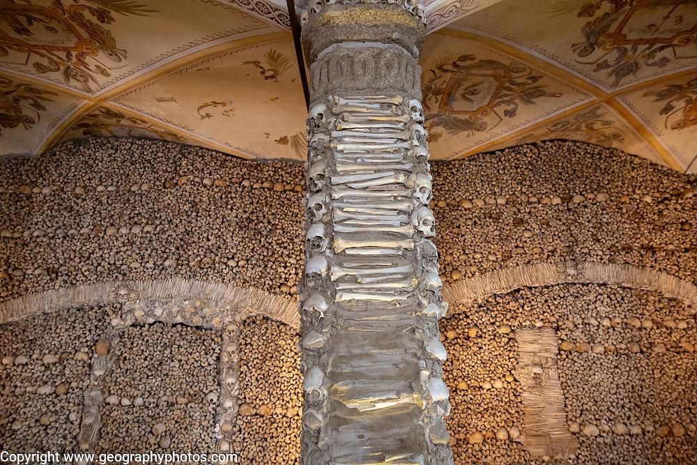 The Chapel of Bones, Capela dos Ossos, city of Evora, Alto Alentejo, Portugal, southern Europe