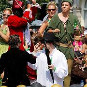 NLD/Amsterdam/20120804 - Canalparade tijdens de Gaypride 2012, Peter Pan boot, Mike Weerts
