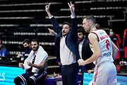 Pozzecco Gianmarco<br /> UnaHotels Reggio Emilia Banco di Sardegna Sassari<br /> Legabasket Serie A UnipolSAI 2020/2021<br /> Bologna, 03/01/2021<br /> Foto A.Giberti / Ciamillo-Castoria
