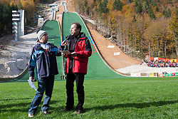 Ziga Turk, Minister for Education, Science, Culture and Sports, during Slovenian summer national championship and opening of the reconstructed Bloudek's hill in Planica on October 14, 2012 in Planica, Ratece, Slovenia. (Photo by Grega Valancic / Sportida)