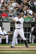 CHICAGO - SEPTEMBER 10:  Paul Konerko #14 of the Chicago White Sox bats against the Cleveland Indians on September 10, 2011 at U.S. Cellular Field in Chicago, Illinois.  The White Sox defeated the Indians 7-3.  (Photo by Ron Vesely)   Subject: Paul Konerko