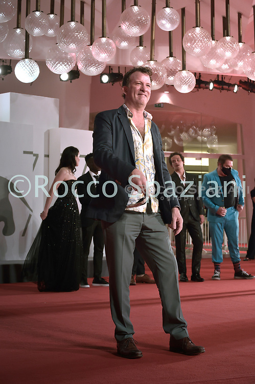 """VENICE, ITALY - SEPTEMBER 10: Thomas Jane the red carpet ahead of the movie """"Run Hide Fight"""" at the 77th Venice Film Festival on September 10, 2020 in Venice, Italy.<br /> (Photo by Rocco Spaziani)"""
