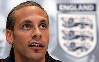 Photo: Paul Thomas.<br /> England Press Conference. 29/05/2006.<br /> <br /> Rio Ferndinand.
