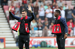 New Bournemouth signings Diego Rico (left) and Jefferson Lerma are presented to the fans before the Premier League match at the Vitality Stadium, Bournemouth.